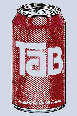 Tab Ode To Andy Warhol Print by Tony Rubino