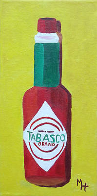 Painting - Tabasco Brand Pepper Sauce by Margaret Harmon