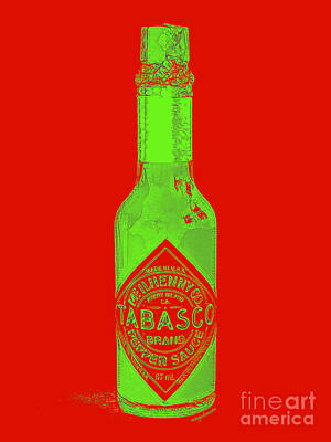 Digital Art - Tabasco Sauce 20130402grd3 by Wingsdomain Art and Photography