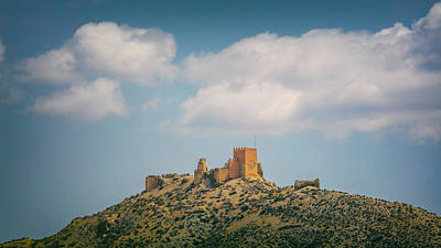Taberna Photograph - Tabernas Castle, Spain by Ken Welsh