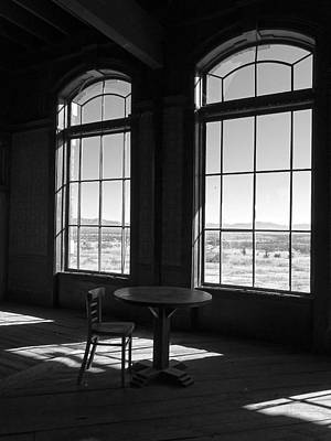 Photograph - Table And Chair And The Windows by Lucinda Walter