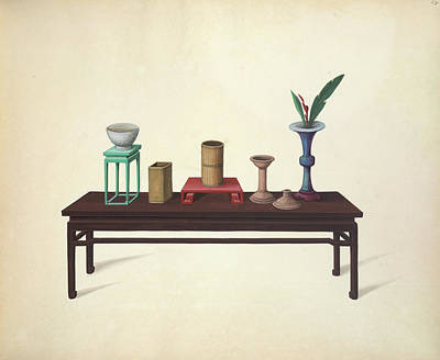 Table And Ornaments Art Print