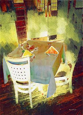 Table At The Fauve Cafe Art Print by RC deWinter