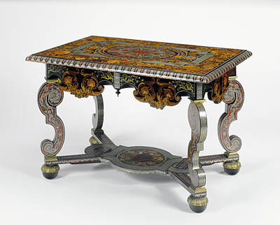 Marquetry Drawing - Table Attributed To André-charles Boulle, French, 1642 - by Litz Collection