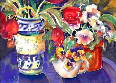 Painting - Table Blooms by Ann  Nicholson