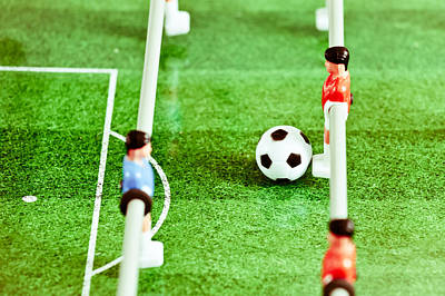 Football Royalty-Free and Rights-Managed Images - Table football by Tom Gowanlock