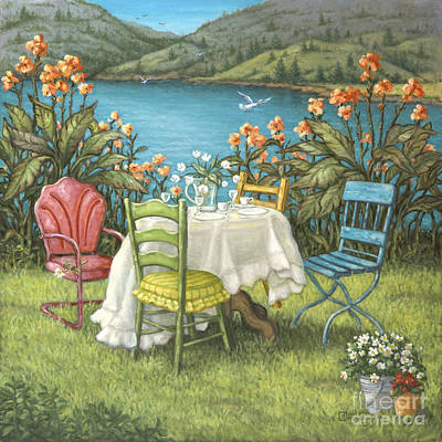 Painting - Table For Four by Janet  Kruskamp