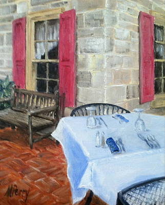 Painting - Table For Two by Margie Perry