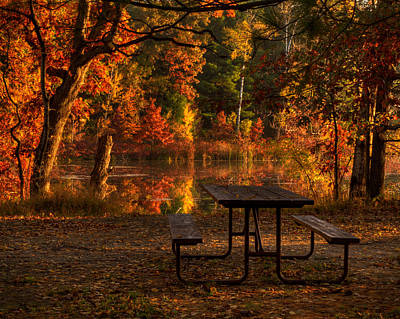 Fallen Leaf Lake Photograph - Table For Two by Thomas Young
