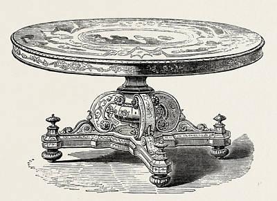 Hamburg Drawing - Table, From Hamburg by English School