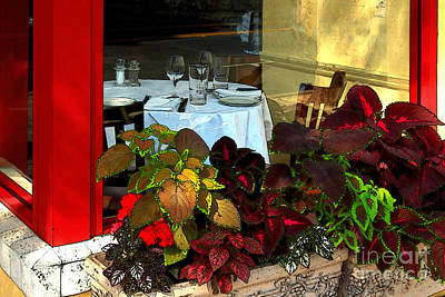 Table Wine Photograph - Table In The Window by James Eddy