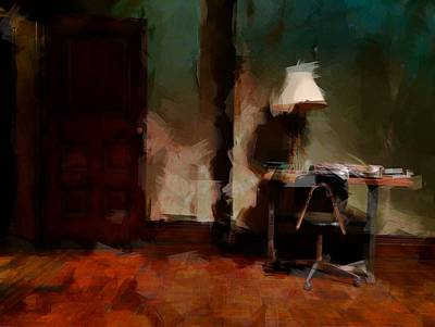 Harlem Digital Art - Table Lamp Chair by H James Hoff