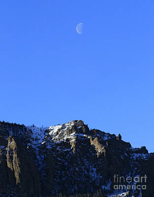 Fruits And Vegetables Still Life - Table Mountain And Moon   #0562 by J L Woody Wooden