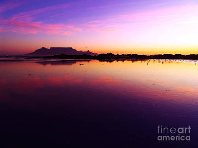 Southafrica Photograph - Table Mountain Big Bay Cape Town by Charl Bruwer
