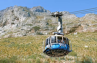 Photograph - Table Mountain Cable Car by Maria Coulson