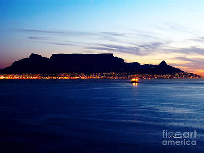 Southafrica Photograph - Table Mountain Early Evening by Charl Bruwer