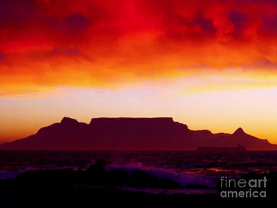 Table Mountain Fire Painting Original
