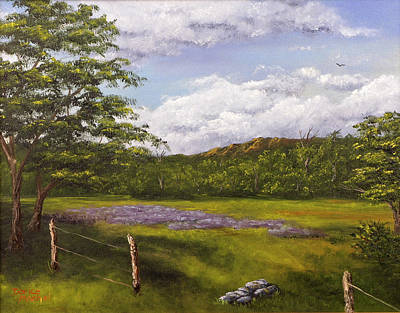Painting - Table Mountain Meadow by Darice Machel McGuire