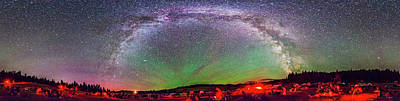 Table Mountain Star Party Panorama 1 Art Print by Alan Dyer