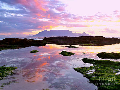 Table Mountain Sunset Reflection Original