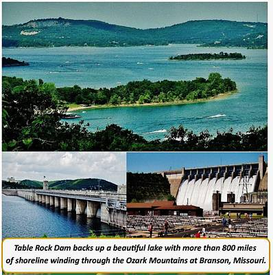 Animal Portraits - Table Rock Dam and lake by Gordon W Miller