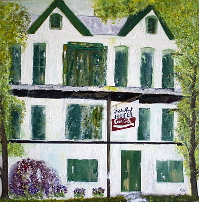 Painting - Table Rock Hotel by Aleezah Selinger
