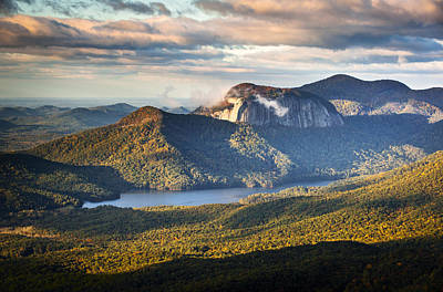 Leaves Changing Photograph - Table Rock Sunrise - Caesars Head State Park Landscape by Dave Allen