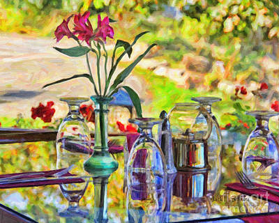 Table Setting Reflections Art Print by Jack Schultz