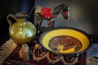 Persian Carpet Digital Art - Table Still Life by Tom Bell