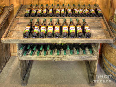 Table Wine Art Print by Bob Hislop