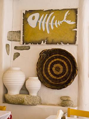 Photograph - Tableau In Cafe In Mykonos by Brenda Kean