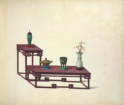 Illustration Technique Photograph - Tables And Ornaments by British Library
