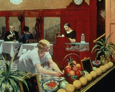 Cafes Painting - Tables For Ladies by Edward Hopper
