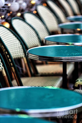 Photograph - Tables In The Latin Quarter by John Rizzuto