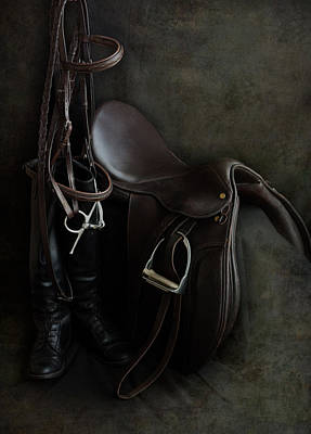 Tack And Boots Art Print