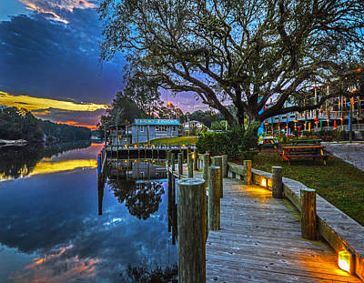 Digital Art - Tacky Jack On The Dock Sunrise by Michael Thomas