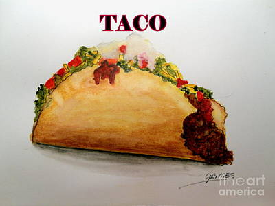 Painting - Taco by Carol Grimes