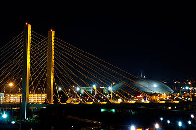 Print featuring the photograph Tacoma Dome And Bridge by Tikvah's Hope