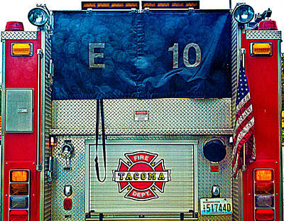 Photograph - Tacoma Fire Dept. by Tikvah's Hope