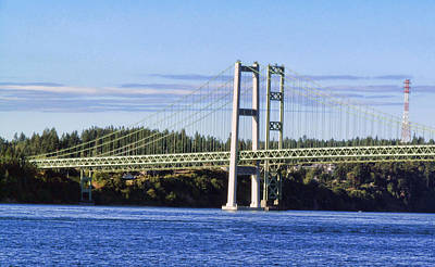 Photograph - Tacoma Narows Bridge 54 by Ron Roberts