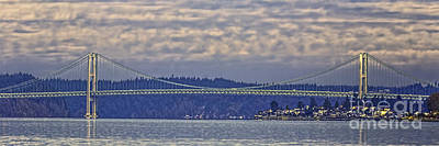 Photograph - Tacoma Narrows Bridge Landscape by Jean OKeeffe Macro Abundance Art