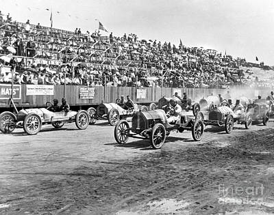 Photograph - Tacoma Speedway - Intercity Race 1914 by Boland