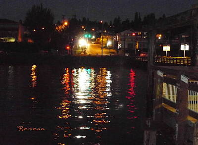 Photograph - Tacoma Waterfront At Night On Ruston Way by Sadie Reneau