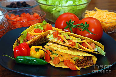 Photograph - Tacos With Ingredients by Danny Hooks