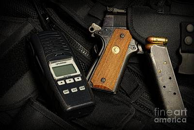 Tactical Gear - Gun  Art Print by Paul Ward