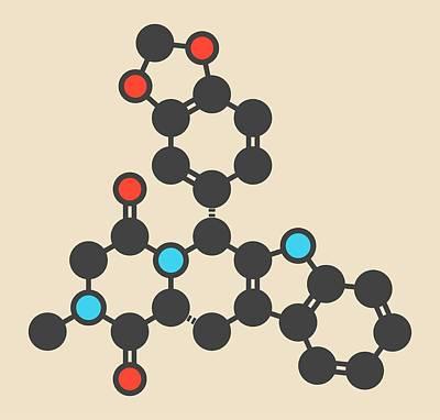 Tadalafil Molecule Art Print