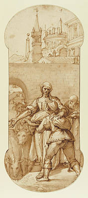 Taddeo At The Entrance To Rome Greeted By Toil, Servitude Art Print by Litz Collection