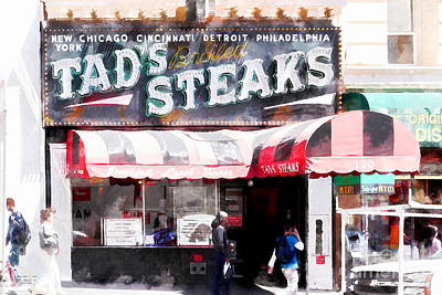 Photograph - Tads Broiled Steaks Restaurant San Francisco 5d17955wcstyle by Wingsdomain Art and Photography