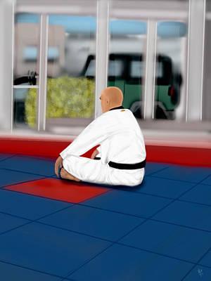 Taekwondo Master Art Print by Mathieu Lalonde