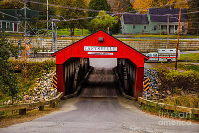 Photograph - Taftsville Bridge Morning by Rick Bragan